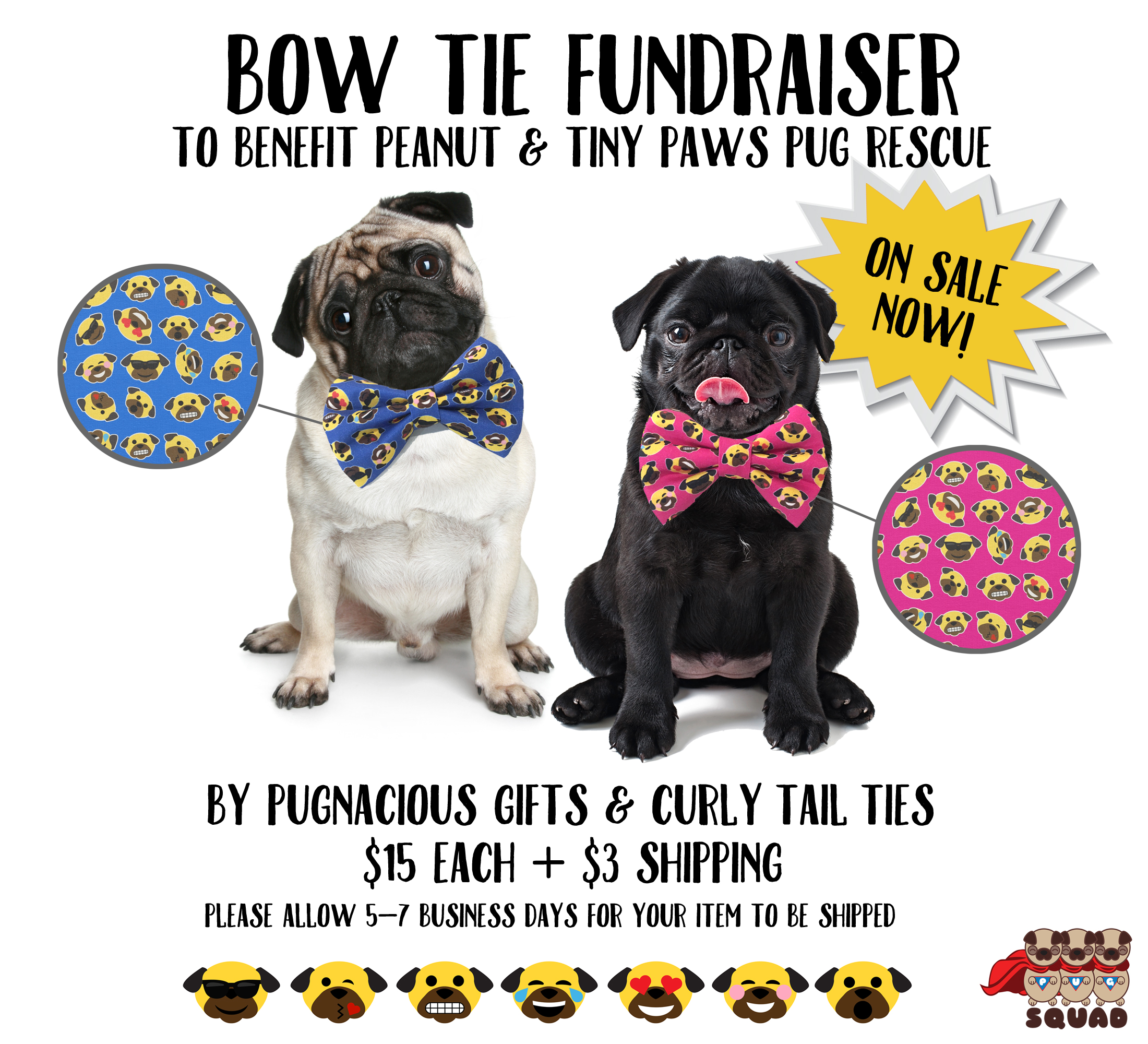 tiny paws pug rescue tiny paws bow tie fundraiser pug squad 4699