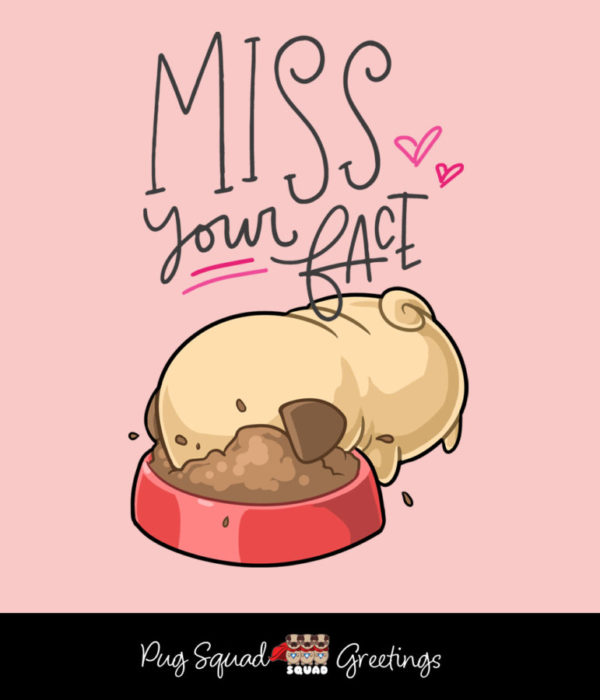 Pug Squad eCard Miss Your Face