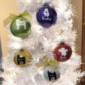Pug Squad personalized ornaments