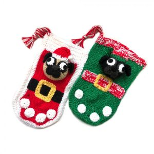 Santa & Elf Pug Christmas Stockings